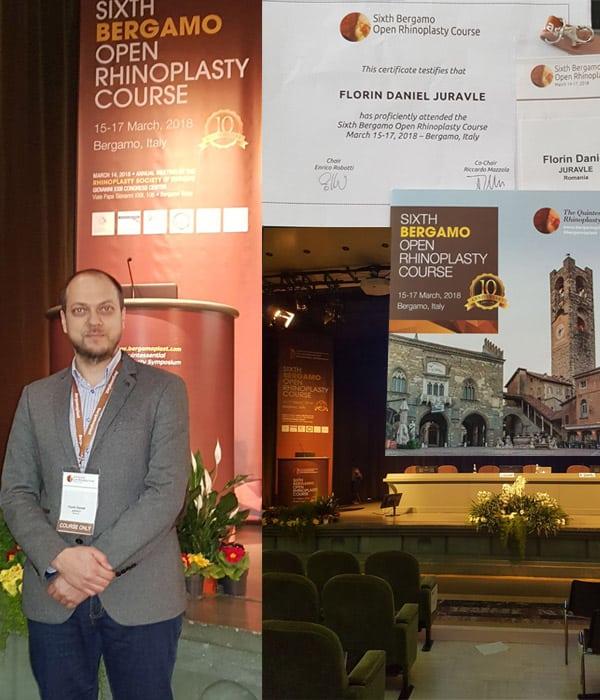 Dr. Florin Juravle la Congresul international de Rinoplastie de la Bergamo, Italia 2018 - 2